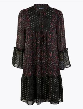 Floral Relaxed Mini Dress by Marks & Spencer