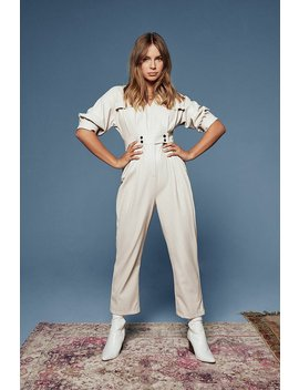 Where You'd Faux Leather Be Boilersuit by Nasty Gal