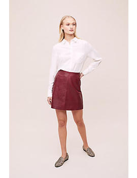 Selected Femme Nora Leather Mini Skirt by Selected Femme