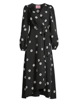 Spade Clover Print Midi Wrap Dress by Kate Spade New York