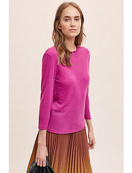 Tonia Ruffled Neck Top by Anthropologie