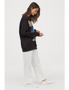 Oversize Sweatshirt Mit Druck by H&M