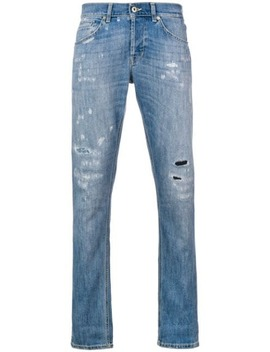 Distressed Stonewashed Jeans by Dondup