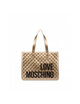 Quilted Maxi Shopper With Logo by Moschino