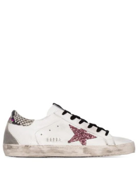 Superstar Glittered Star Sneakers by Golden Goose