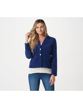 Laurie Felt Corduroy 2 Button Blazer With Pockets by Laurie Felt Los Angeles