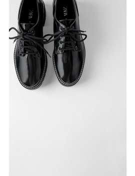 Chaussures Plates À SurpiqÛres Antik by Zara