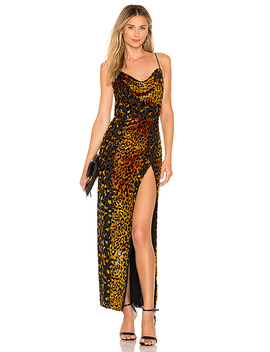 Ren Maxi Dress In Natural Leopard by Nbd