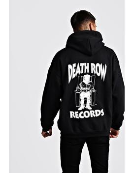 Death Row Records License Front & Back Hoodie by Boohoo