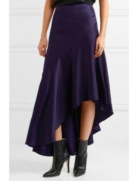 Haider Ackermann Purple Satin Asymmetric Skirt Sz 40 Fr 8 Us by Haider Ackermann