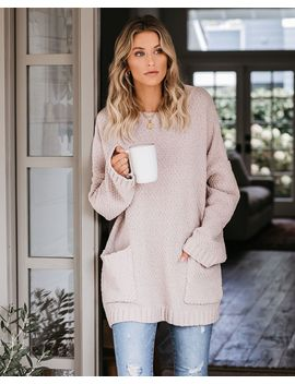 Where Love Resides Pocketed Chenille Sweater   Latte by Vici