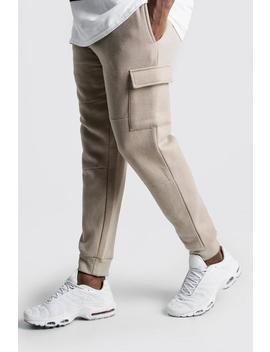 Big And Tall Skinny Fit Basic Cargo Joggers by Boohoo