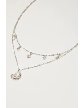 Layered Moon & Stars Necklace by Forever 21