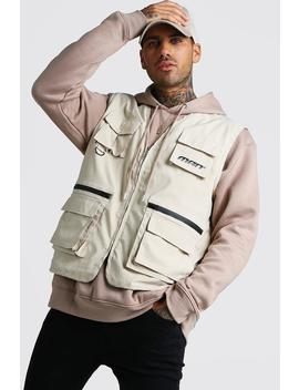 Man Utility Vest With Multi Pockets by Boohoo