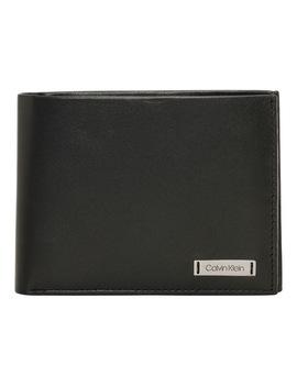 Smooth Plaque Cc Coin Wallet by Calvin Klein