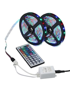 3528 Rgb 600 Le Ds Color Changing Flexible Led Strip Light Kit + 44key Ir Remote Controller For Home Decorative by Wish