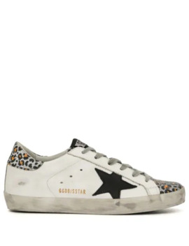 Superstar Leopard Print Trim Sneakers by Golden Goose