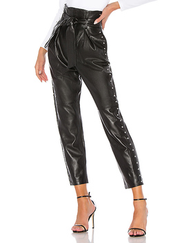 Cady Leather Pant In Black by Camila Coelho