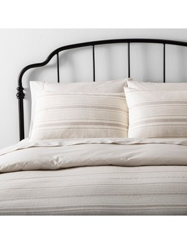 Duvet Cover Set Linen Blend Yarn Dye Stripe   Hearth & Hand™ With Magnolia by Shop This Collection