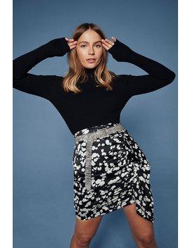 Sleek The Rewards Satin Mini Skirt by Nasty Gal