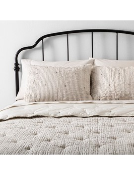 Comforter Set Simple Stripe With Stitch Embroidery   Hearth & Hand™ With Magnolia by Shop This Collection