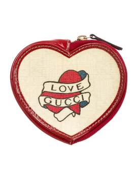 Tattoo Heart Coin Pouch by Gucci