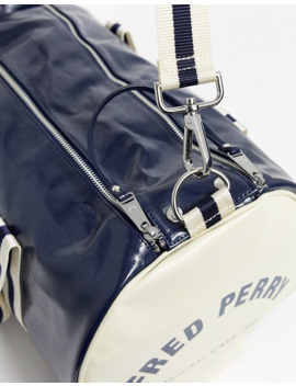 Fred Perry Classic Barrel Bag In Navy by Fred Perry's