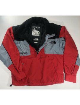 Mens Med North Face Steep Tech Ski Scot Schmidt Parka Hooded Jacket Vtg Red Grey by The North Face