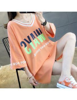 Jewie   3/4 Sleeve Letter Mini T Shirt Dress by Jewie