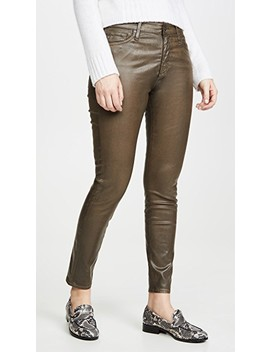 The Farrah Vintage Leatherrette Skinny Ankle Jeans by Ag
