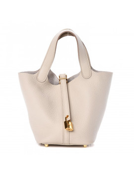 Hermes Taurillon Clemence Picotin Lock 18 Pm Craie by Hermes