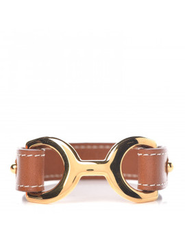 Hermes Barenia Pavane Cuff M Fauve by Hermes
