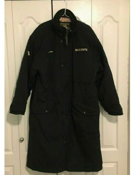 Vintage Descente Long Ski Coaches Trench Jacket Us Size Medium Coat by Descente