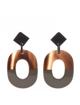 Hermes Buffalo Horn Isthme Earrings by Hermes