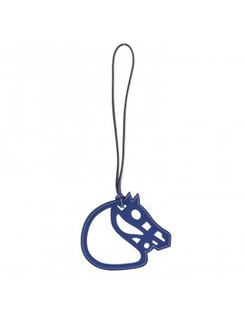 Hermes Swift Paddock Cheval Horse Bag Charm Bleu Electrique by Hermes