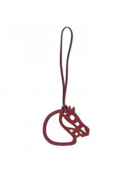 Hermes Swift Paddock Cheval Horse Bag Charm Rouge Grenat by Hermes