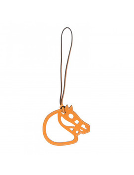 Hermes Swift Paddock Horse Bag Charm Jaune D'or by Hermes