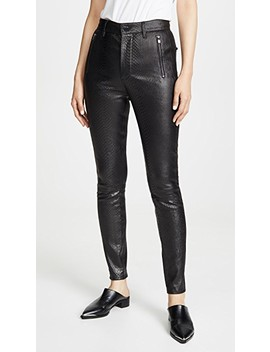 Lora Super High Rise Leather Skinny Pants by J Brand