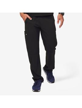 Men's Black Axim   Cargo Scrub Pants by Figs
