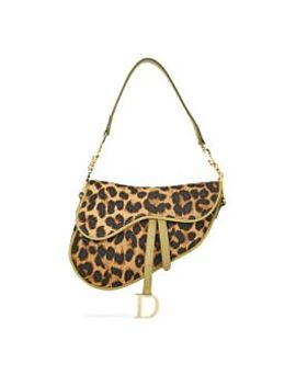 Leopard Canvas Saddle Bag by Christian Dior