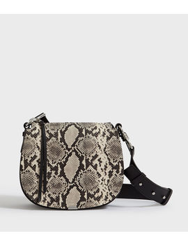 Sliver Suede Round Crossbody Bag by Allsaints