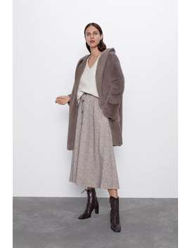 Fuzzy Reversible Coat by Zara