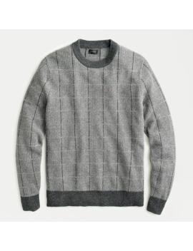 Merino Wool Crewneck Sweater In Tattersall Jacquard by J.Crew