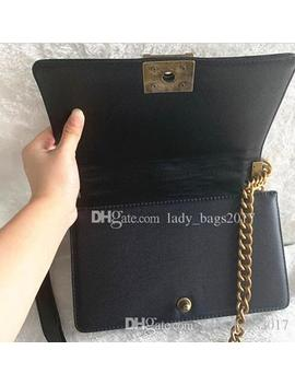 Classic 20cm25cm Flap Chain Bag Designer Bags High Quality Women Plaid Chain Bag Handbag Real Leather Purse Crossbody Shoulder Messenger Bag by D Hgate.Com
