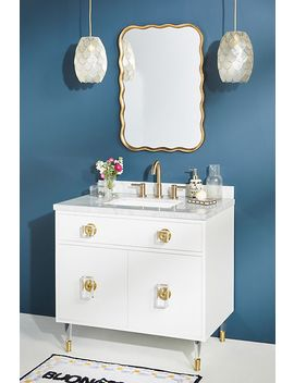 Lacquered Regency Single Bathroom Vanity by Tracey Boyd