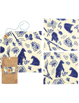 Bee's Wrap   Lunch Pack   Bees And Bears Print by Rei
