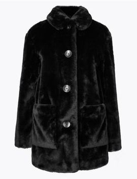 Faux Fur Coat by Marks & Spencer