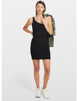 Black One Shoulder Ribbed Mini Dress by Miss Selfridge
