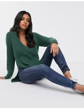 Vila V Neck Knitted Jumper by Vila