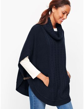 Cable Cowlneck Poncho by Talbots